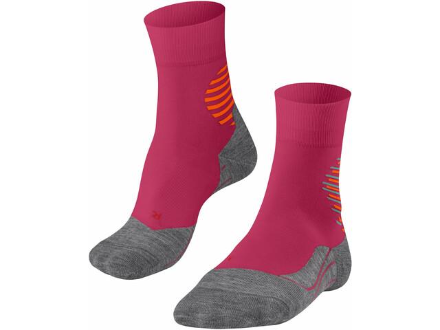 Falke RU4 Offcircle Running Socks Women, rosa/gris